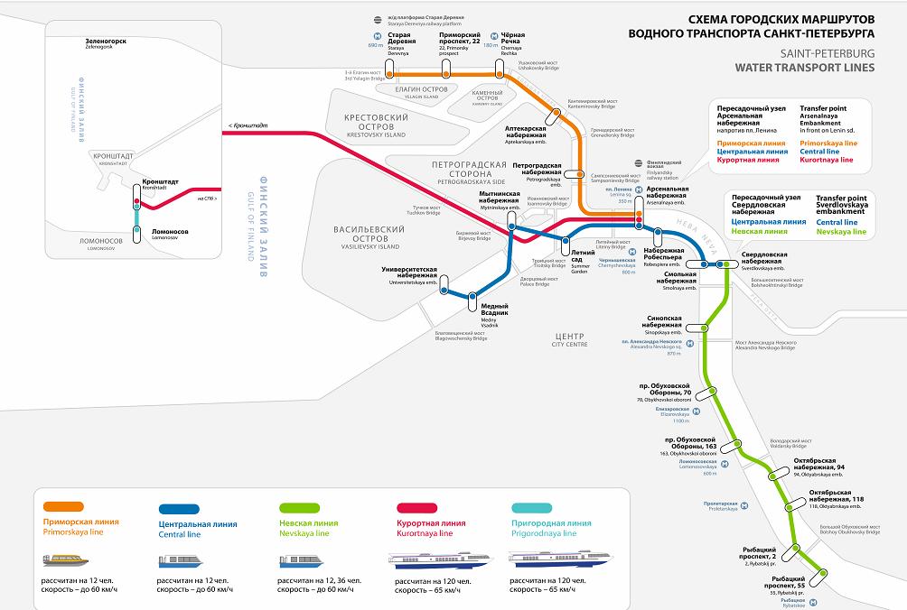 Карта передвижения аквабуса