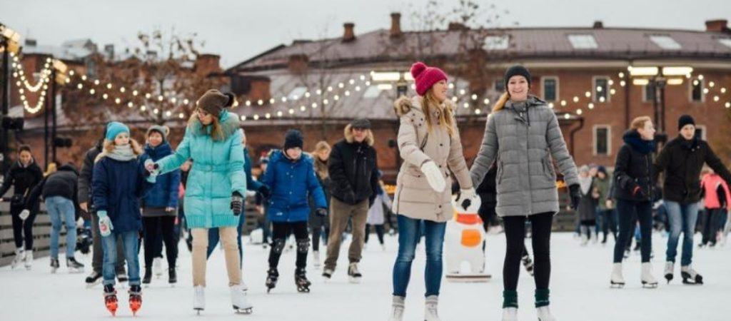 Где покататься на коньках и санках?