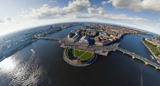 Фотография Васьки и стрелки острова с высоты