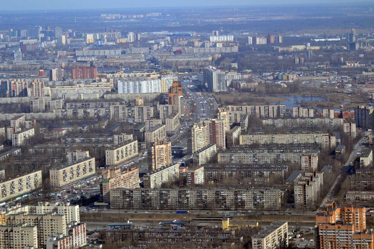 Фото Фрунзенский район с высоты птичьего полета