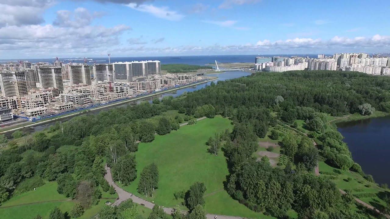 Вид на Красносельский район сверху