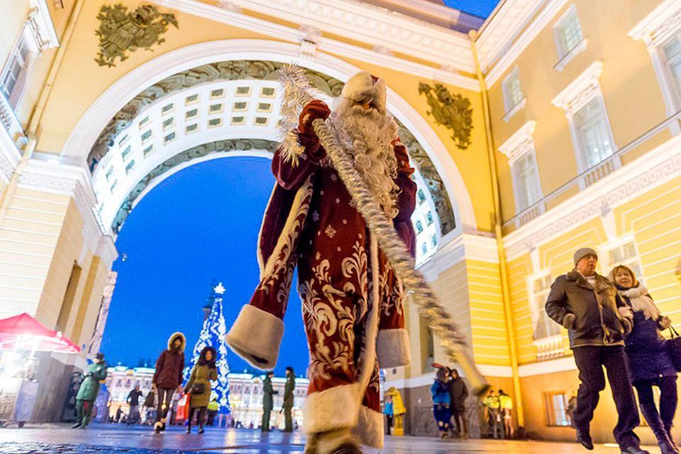 Новый год 2020 СПБ Дворцовая площадь