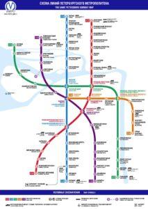схема метрополитена СПБ